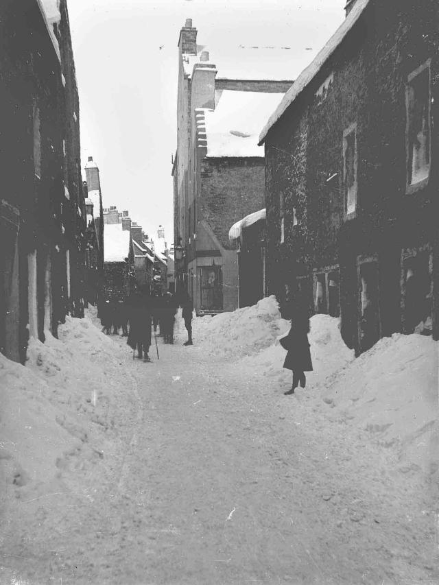 Victoria Street, Kirkwall, in the snow