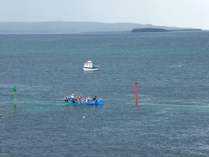 Winners of Deerness Raft Race