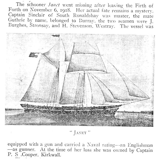 The Mystery of the Schooner Janet