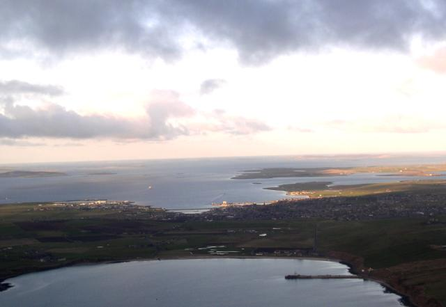 Kirkwall and St Ola from the South