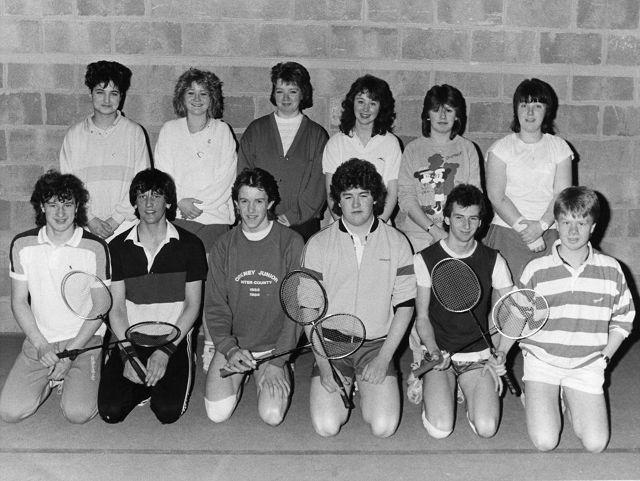 Junior East badminton team 1986