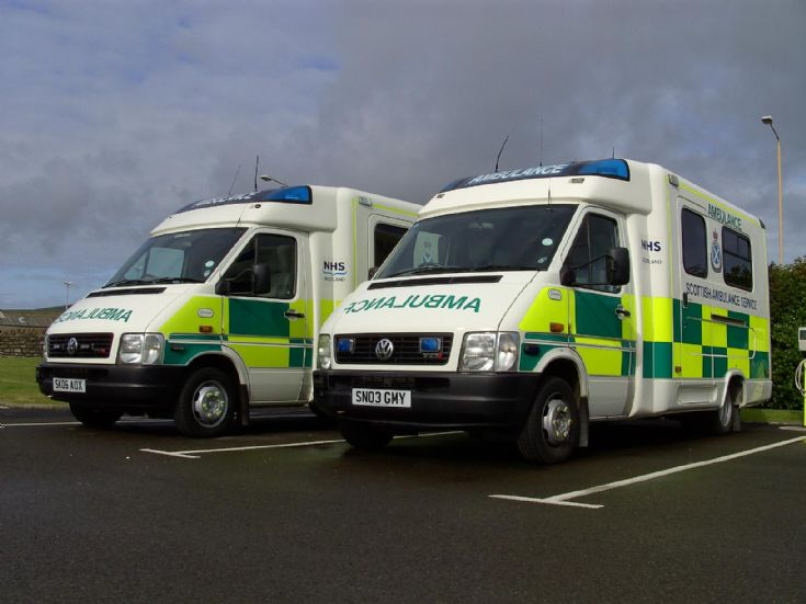Kirkwall Ambulance current fleet