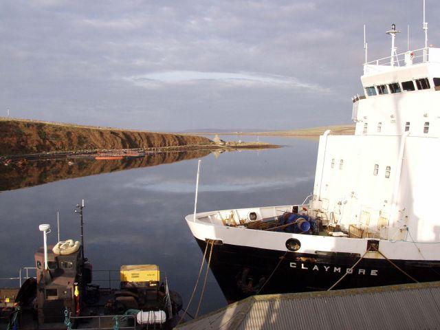 On the Pentalina B, moored at SMH