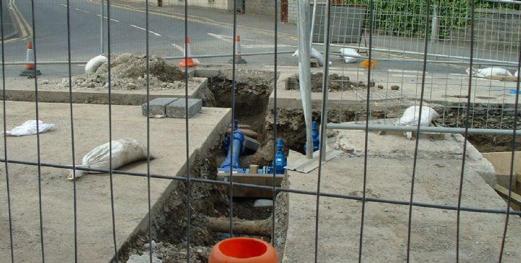roadworks in Junction Road progress