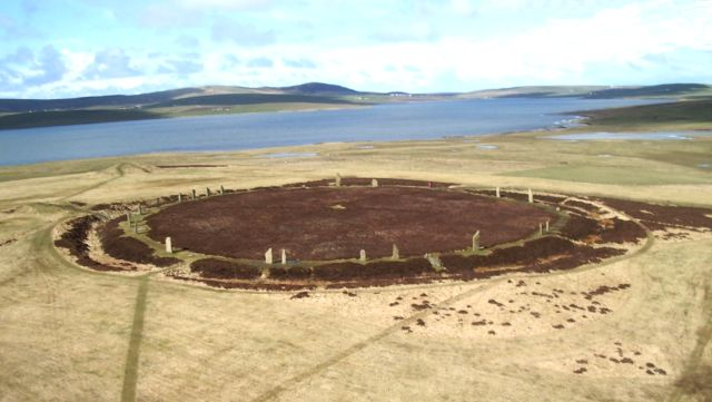 Ring of Brodgar from a kite