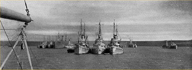 Minesweepers in Kirkwall Bay