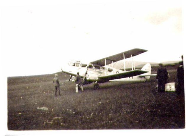 Plane at Berstane Farm 1938
