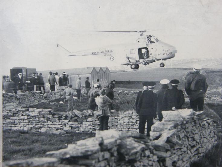 Coastguard exercise at Scapa