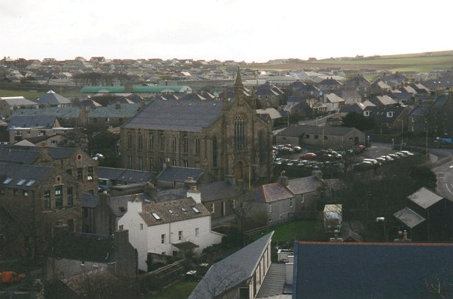 View from Cathedral, towards Papdale