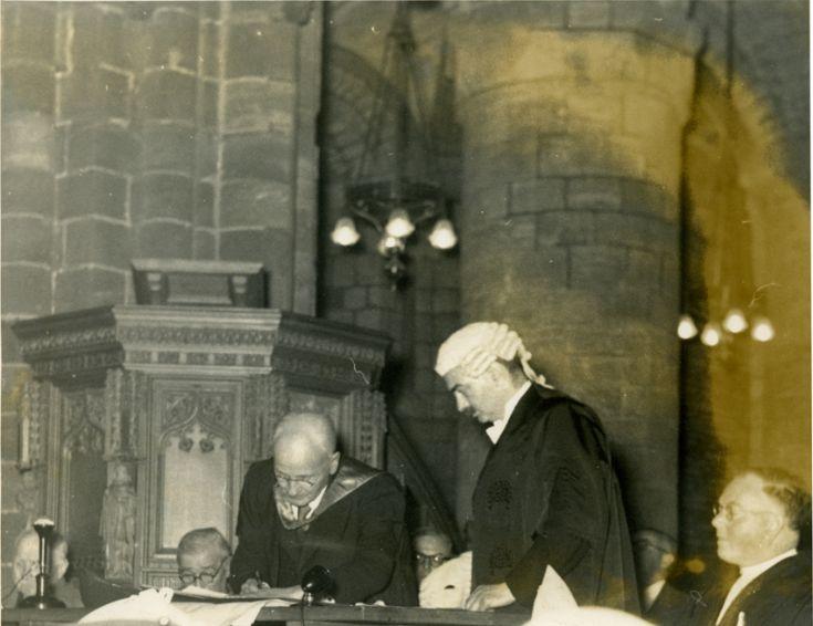 Dr Hugh Marwick receiving freedom of Kirkwall