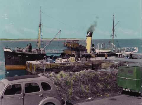 The Thorfinn at Eday pier