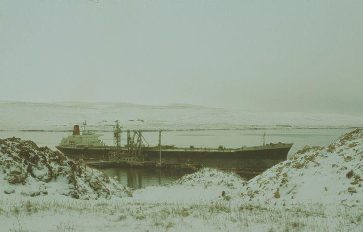 Shelltanker Neverita in Sullom Voe, Shetland