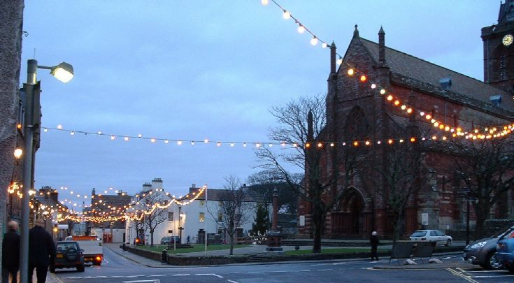 Kirkwall's festive lights