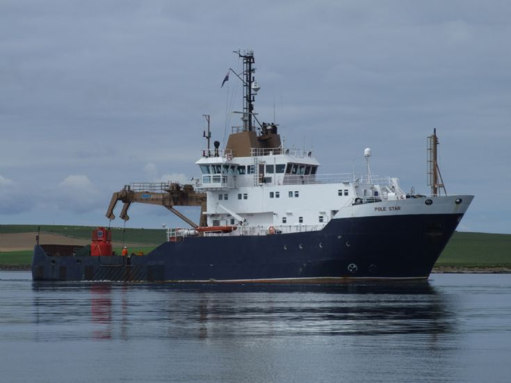 Pole Star in Stronsay Harbour.
