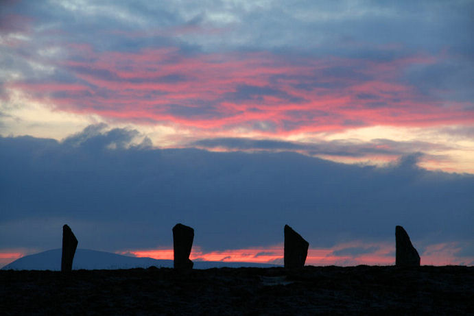 Hogmanay 2008 - Sunset over Ring of Brodgar