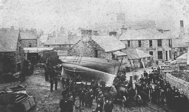 Launch of the smack 'Hemarin' 12/3/1885