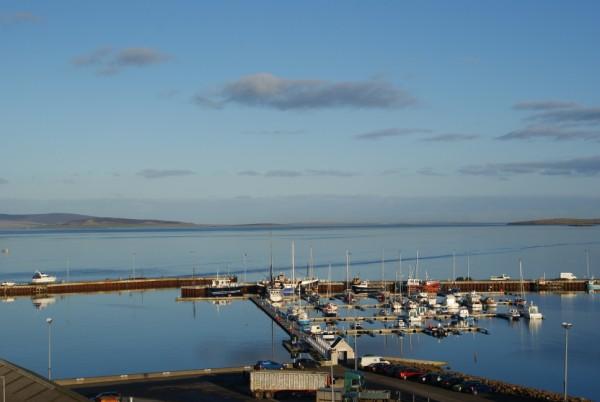 View of the marina from the Kirkwall hotel