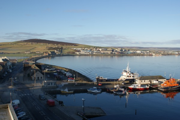View from Kirkwall Hotel