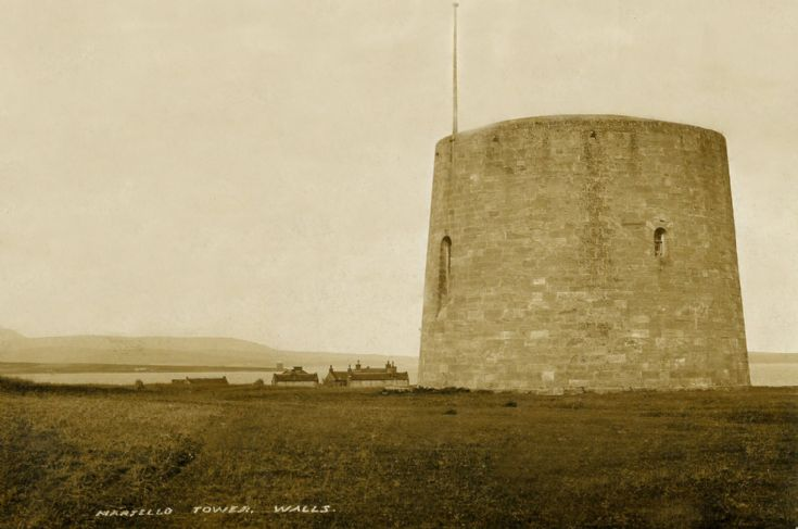 Martello tower at the sooth side