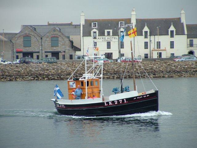Old Shetland boat, 'Pilot Us'