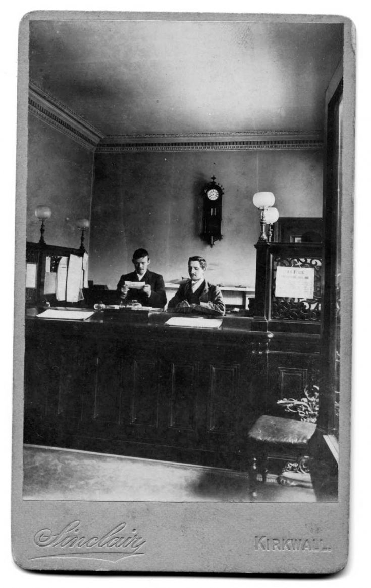 The interior of the Commercial Bank, Kirkwall