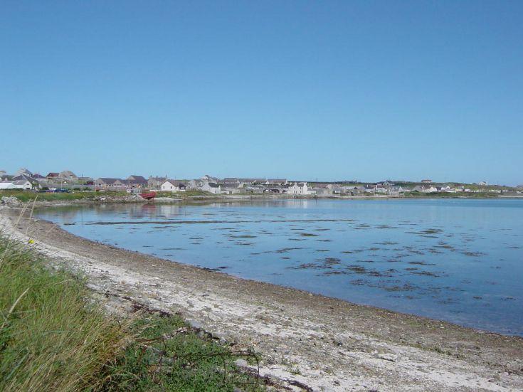 Blue sea and sky, Pierowall, Westray