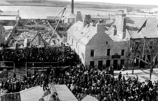 Laying foundation stone of Kirkwall Town Hall