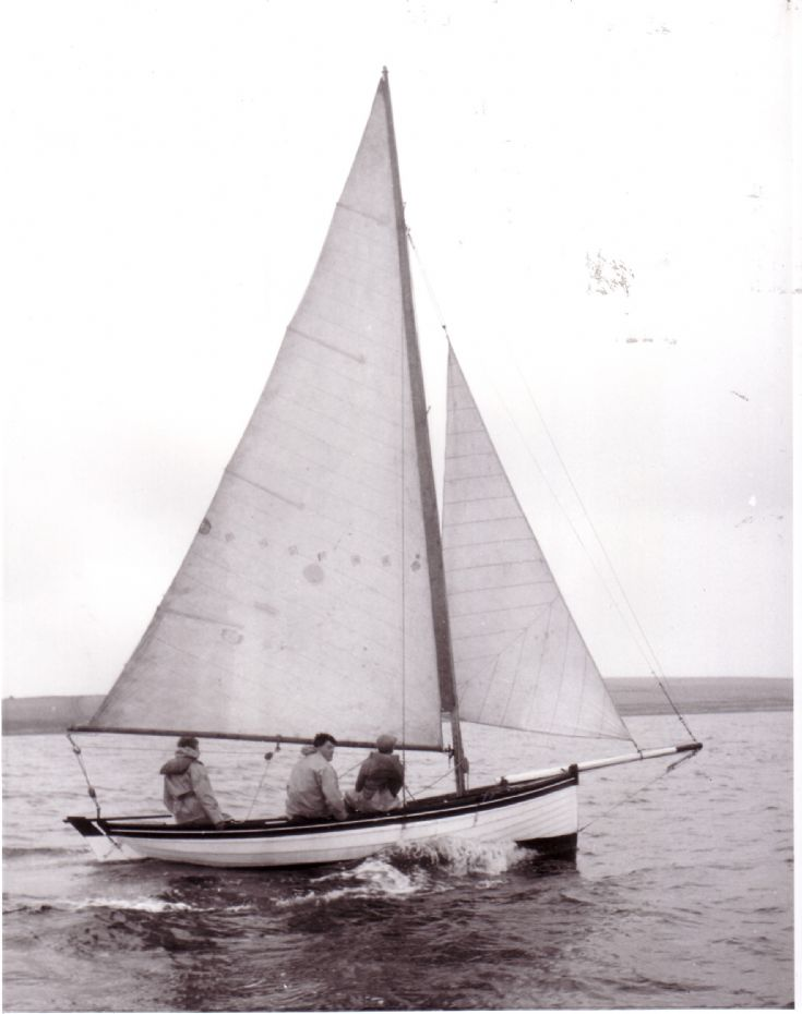 Ivy sailing at Westray