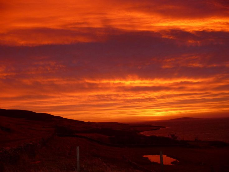 Red Sky in Rousay