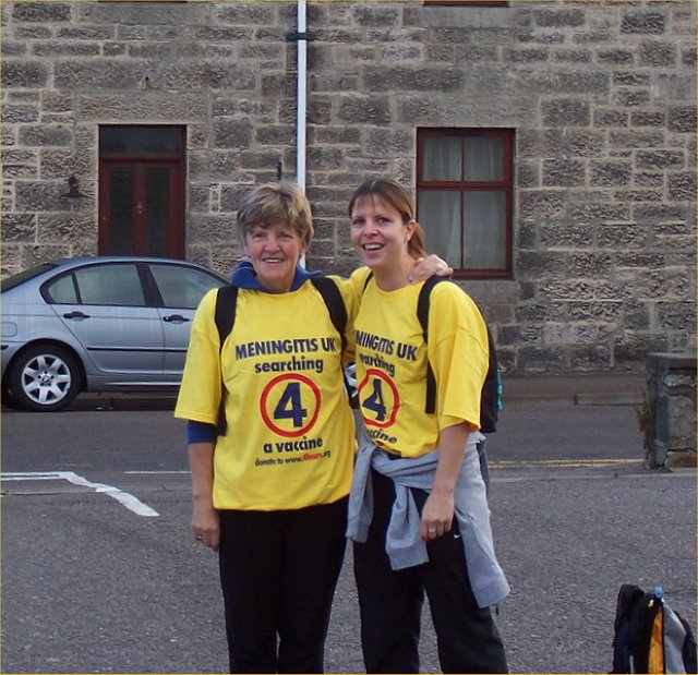 Charity walkers from Westray