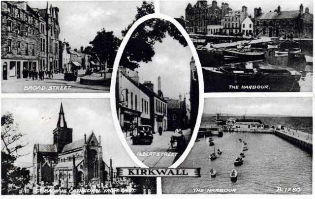 Valentines postcard of Kirkwall