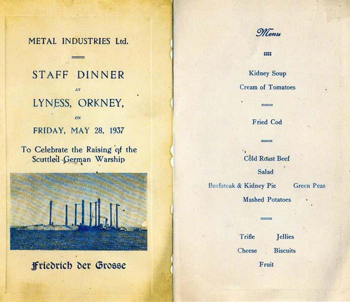 Celebration Menue 1937.