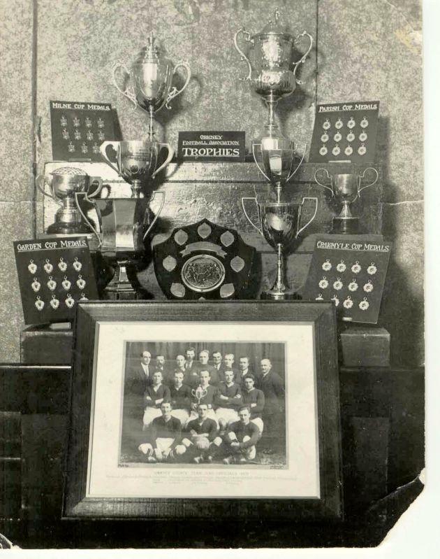 Foootball trophies, 1931
