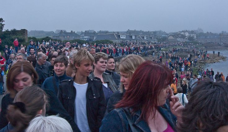 Crowds at Orcadian Up Helly Ah