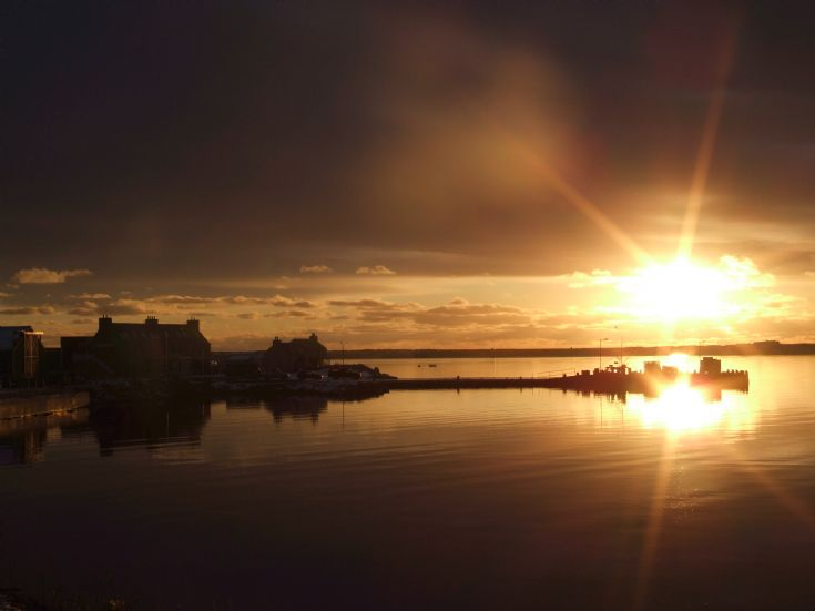 sunrise over Burray Pier