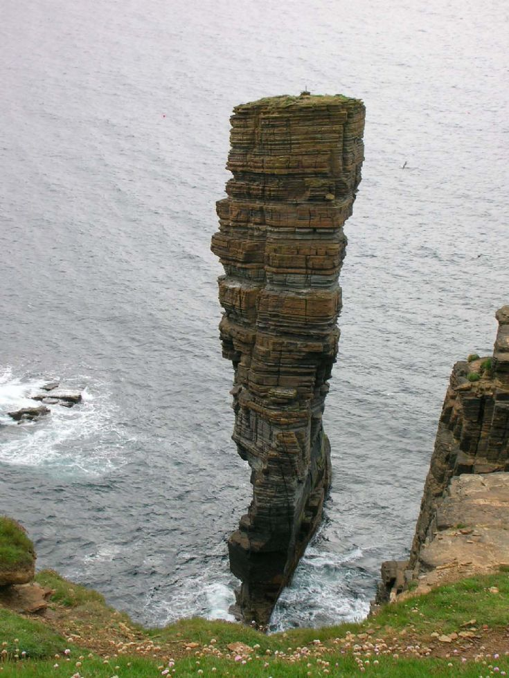 Sea stack near Yesnaby