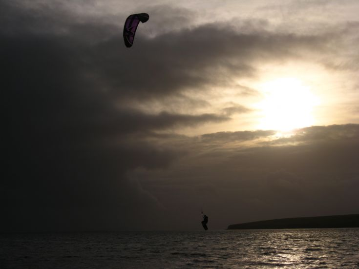 Kite surfing at Scapa