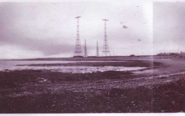 Pylons at Lopness, Sanday