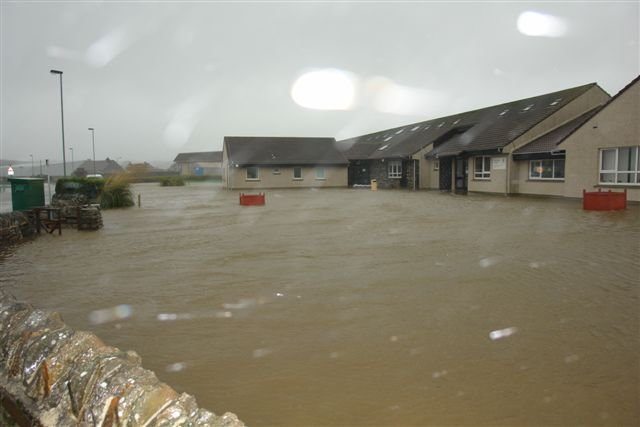 Glaitness Primary School flooded