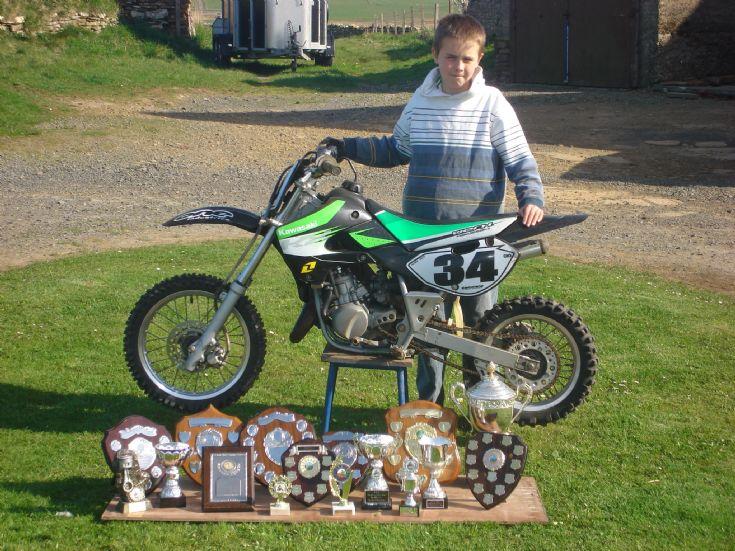 Alex Tait, junior motocross champion 2007