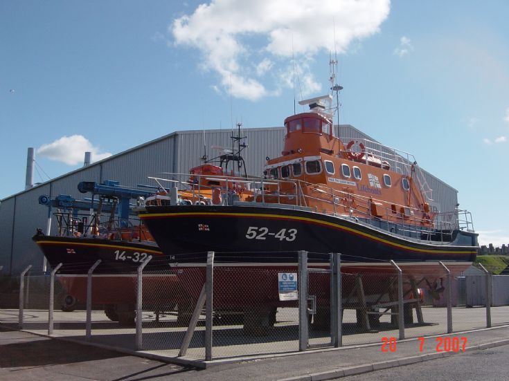Two lifeboats at Buckie.