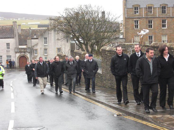 B B parade 100 years Kirkwall company