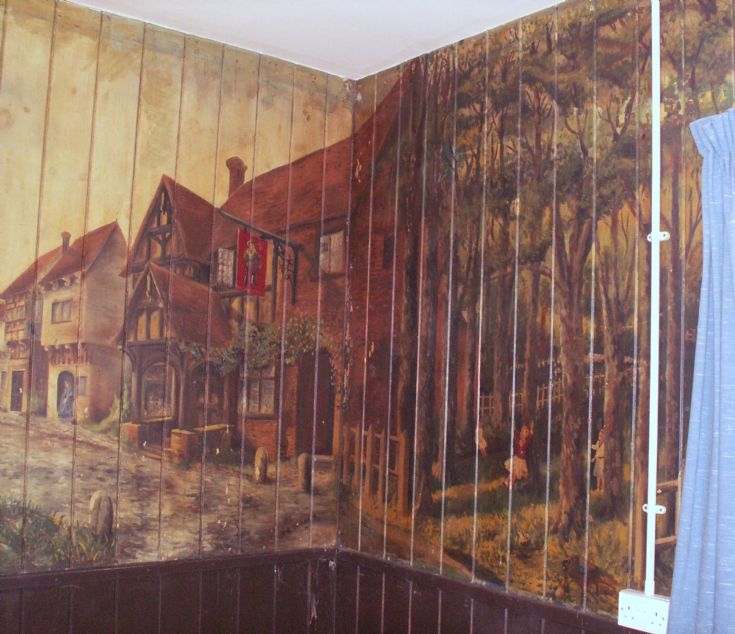 Ness Battery, Stromness, mess hall mural