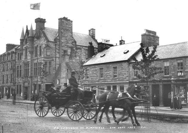 Andrew Carnegie on Kirk Green, Kirkwall