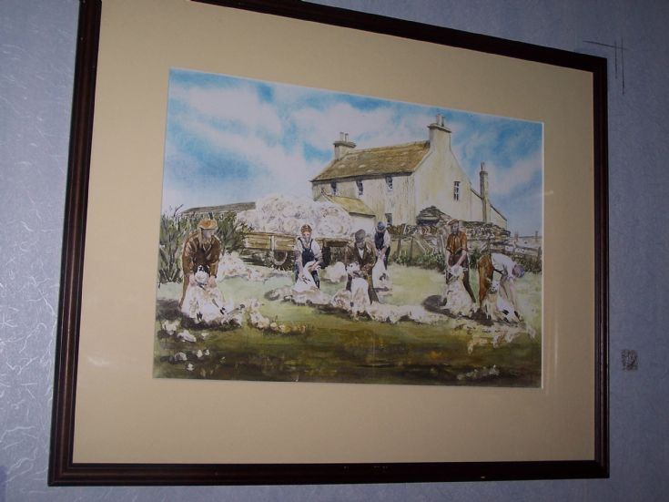painting of photo 19223, Cleat, Stronsay