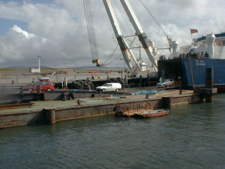 Temporary linkspan for St Ola at Stromness