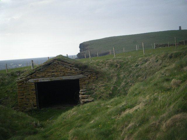 Fishermans hut at Marwick