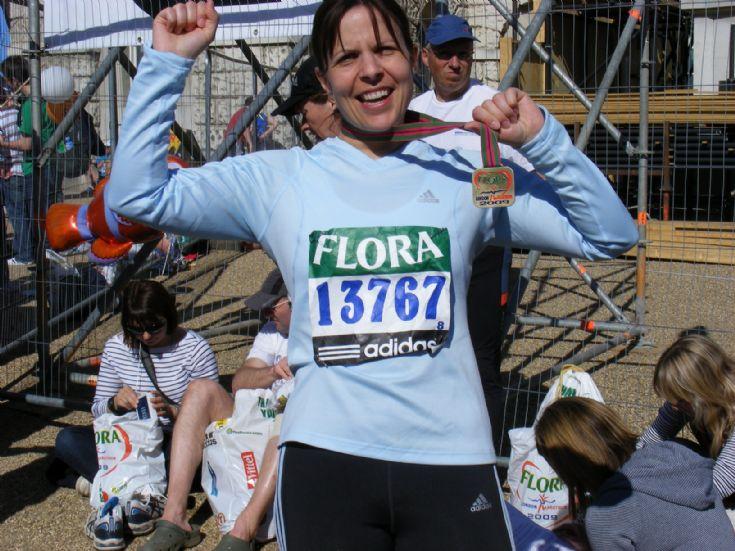 London Marathon Runner Fae Westray