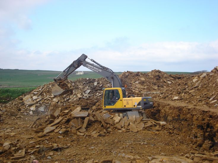 Digging out the new steading at Ingsay