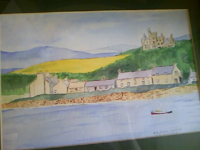 Shapinsay Village and Balfour Castle